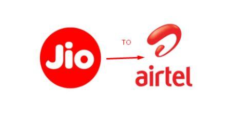 JIO to Airtel MNP