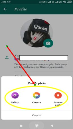 Whatsapp DP Change