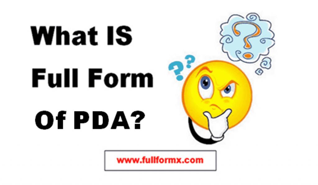 PDA Full Form
