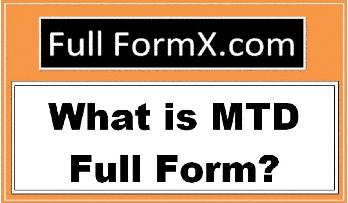 MTD Full Form