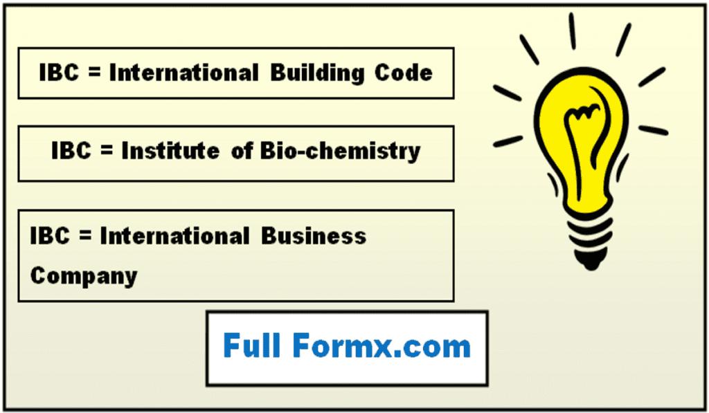 IBC Full Form