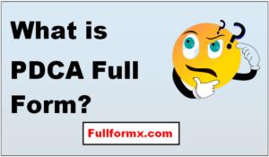 PDCA Full Form
