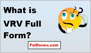 VRV Full Form