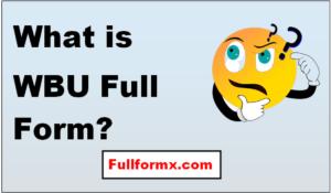 WBU Full Form