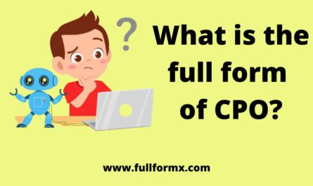 CPO Full Form