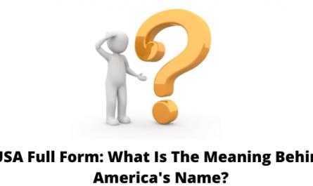 USA Full Form