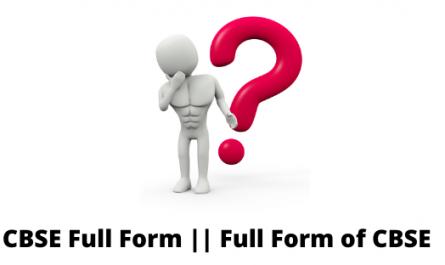 CBSE Full Form