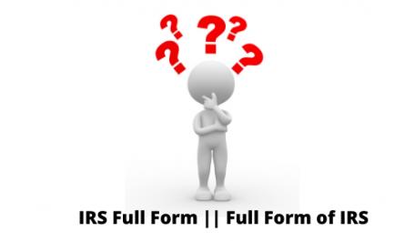 IRS Full Form