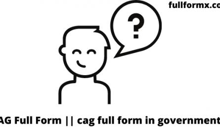 CAG Full Form