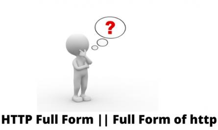 HTTP Full Form