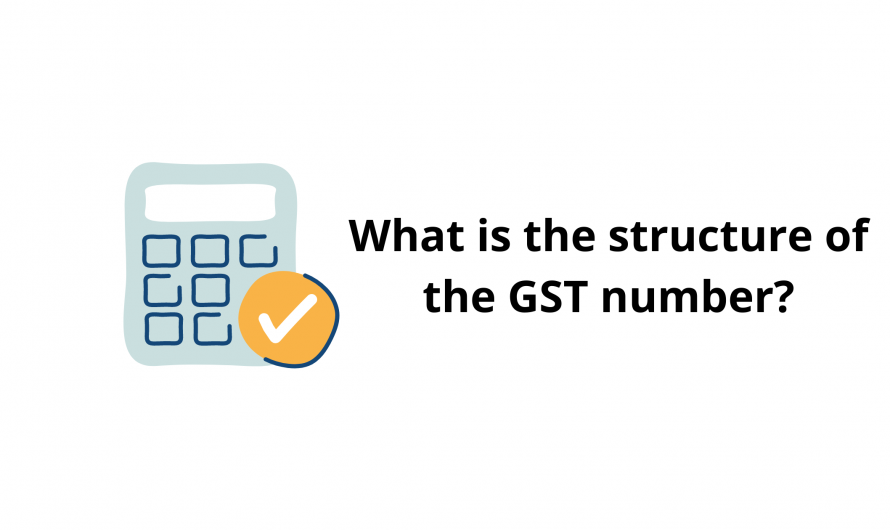 What is the structure of the GST number?